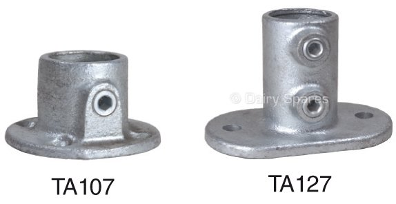 Tubular clamp base flange archives dairy spares